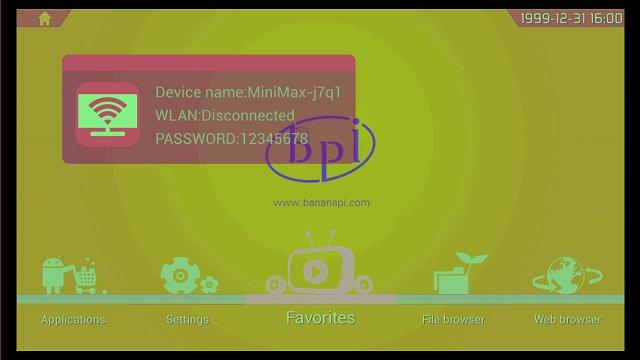 Banana PI Androidデスクトップ