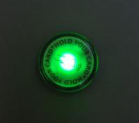 登録済みIDタグの場合緑に点灯