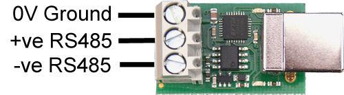 USB-RS485 端子図
