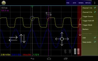 Oscilloscope Pro画面